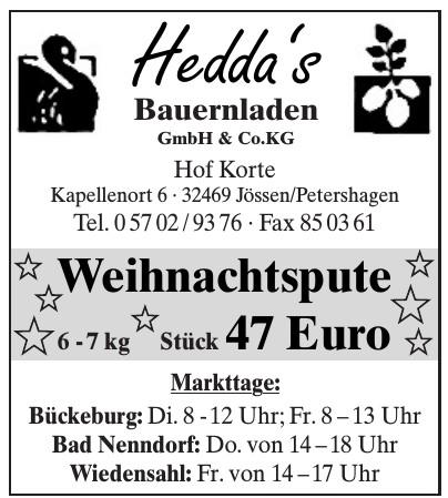 Hedda's Bauernladen GmbH & Co. KG